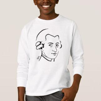 Camiseta larga de la manga del niño de Wolfgang