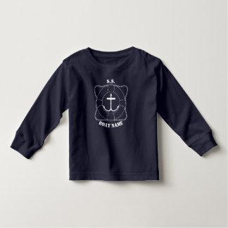Camiseta larga de la manga del niño del canotaje