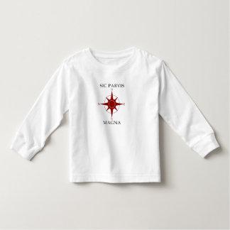 Camiseta larga de la manga del niño del Magna del