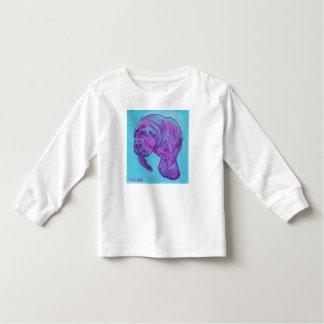 Camiseta larga de la manga del niño del Manatee