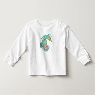 Camiseta larga de la manga del niño del Seahorse