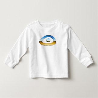 Camiseta larga de la manga del ojo
