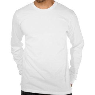 camiseta larga de la manga del xl