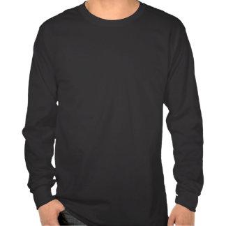 Camiseta larga de la manga oscura
