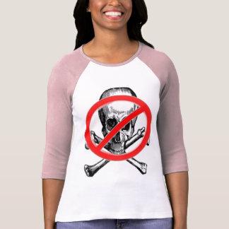 Camiseta larga de las mangas de ANTI-SKULL BONES p