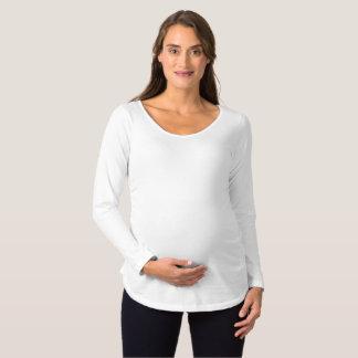 Camiseta larga de maternidad de la manga