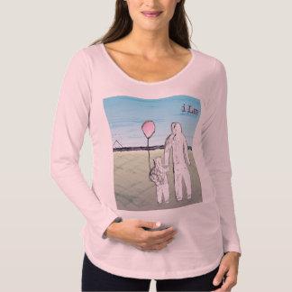 Camiseta larga de maternidad de la manga de ILM