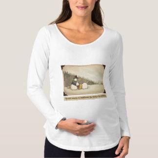 Camiseta larga de maternidad de la manga del
