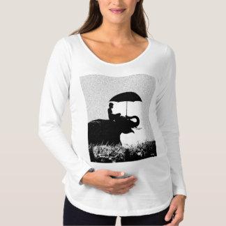Camiseta larga de maternidad de la manga del arte