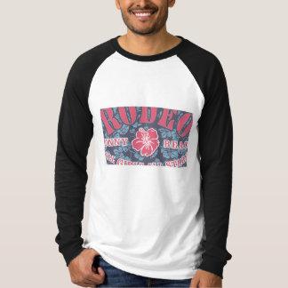Camiseta larga del raglán de la lona de los
