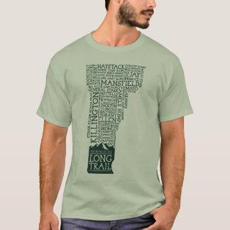 Camiseta larga del rastro de Vermont (logotipo
