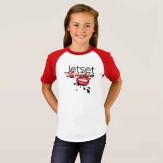 Camiseta larga del regaliz de Jetset > de la manga