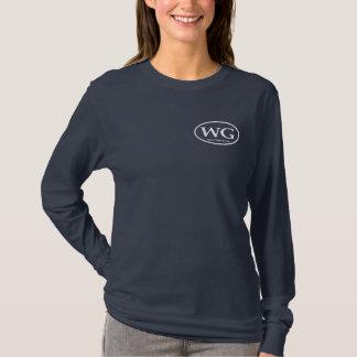 Camiseta larga del WG de la marina de guerra de la