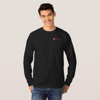 Camiseta larga negra de la manga de TWC
