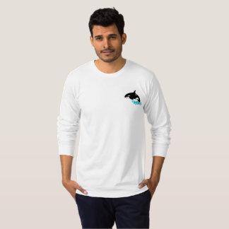 Camiseta larga para hombre de la manga de la vaina