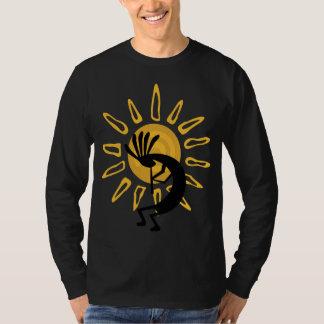 Camiseta larga para hombre de la manga del oro de