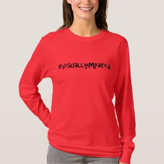 camiseta larga #visuallyimpaired de la manga por