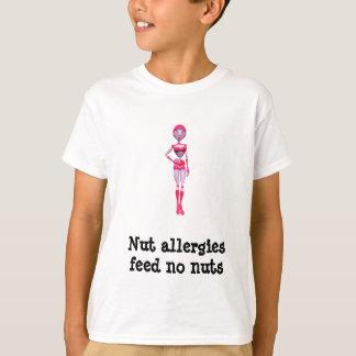 Camiseta Las alergias de la nuez - no alimente ninguna nuez