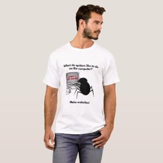 Camiseta Las arañas crean chiste de los Web site