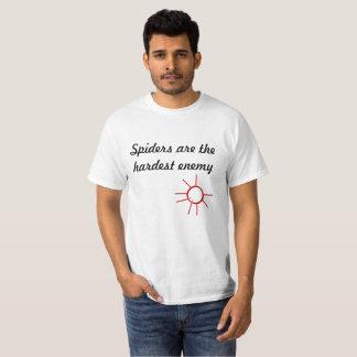 Camiseta Las arañas son el enemigo más duro