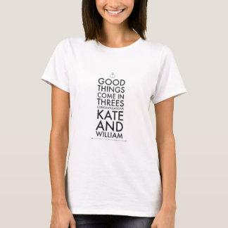 Camiseta Las buenas cosas vienen en threes