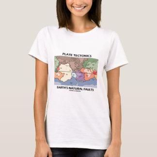 Camiseta Las faltas naturales de la tierra de la tectónica