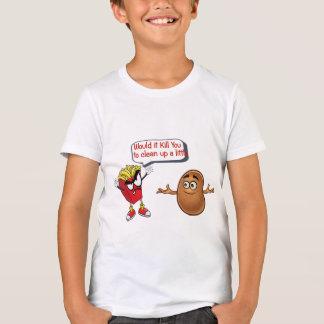 Camiseta las fritadas que dicen la patata cruda limpian a