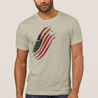 Camiseta las grandes rayas de la estrella de la bandera de