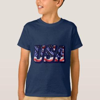 Camiseta Las letras de la bandera de los E.E.U.U., bandera