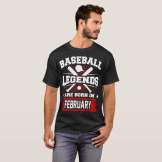 Camiseta las leyendas del béisbol nacen en febrero