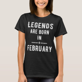 Camiseta Las leyendas nacen en febrero