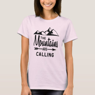 Camiseta Las montañas están llamando