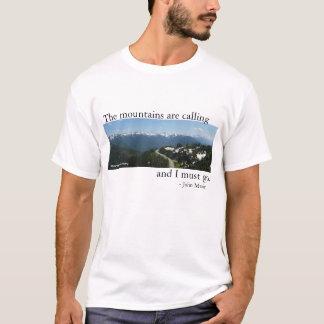 Camiseta Las montañas están llamando - luz