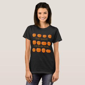 Camiseta Las muchas caras de una Jack-O-Linterna