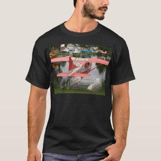 Camiseta Las mujeres vuelan: avión 23, Alaska del flotador