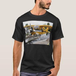 Camiseta Las mujeres vuelan: avión del flotador, capilla