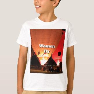 Camiseta Las mujeres vuelan: globo 2 del aire caliente