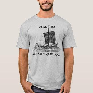 Camiseta Las naves de Viking son fiordo construido duro
