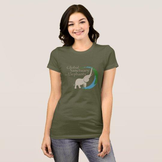 Camiseta Las señoras cabidas juntan con te con el logotipo