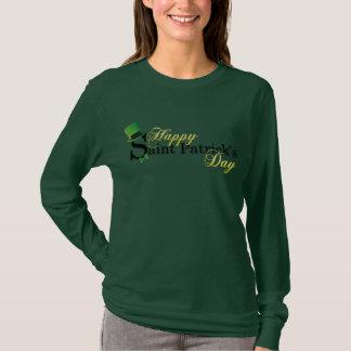 Camiseta Las señoras de St Patrick feliz