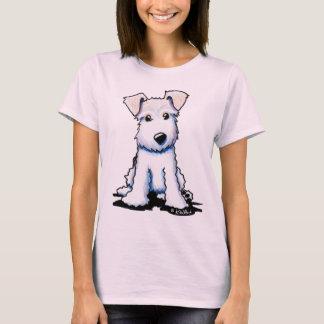 Camiseta Las señoras del fox terrier del alambre cupieron