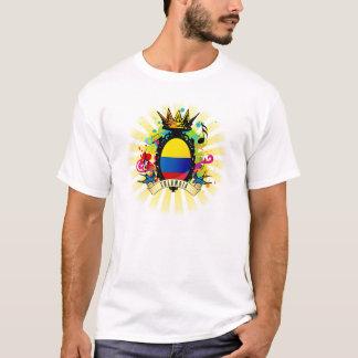 Camiseta latina de la música de Colombia onza