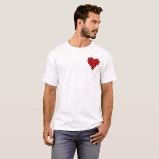 Camiseta Laura. Sello rojo de la cera del corazón con Laura