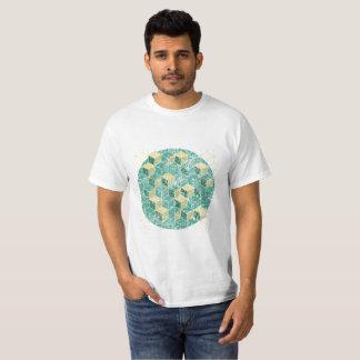 camiseta lavada geométrica