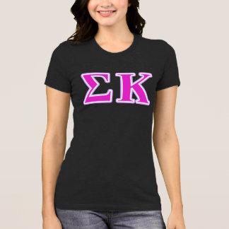 Camiseta Lavanda de Kappa de la sigma y letras rosadas