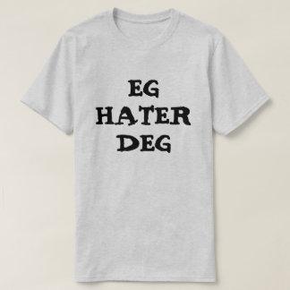Camiseta Le odio en gris noruego
