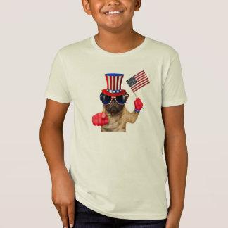 Camiseta Le quiero, barro amasado, perro del tío Sam,