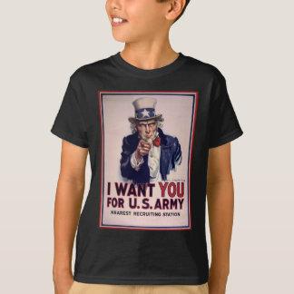 Camiseta Le quiero para el ejército americano