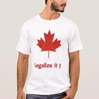 Camiseta Legalícelo, Canadá, hoja de arce