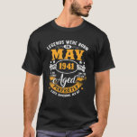 Camiseta Legends Were Born In May 1941 80Th Birthday Gifts